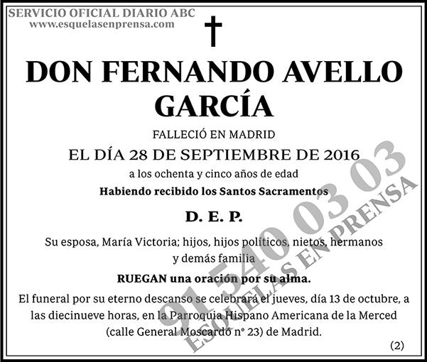 Fernando Avello García